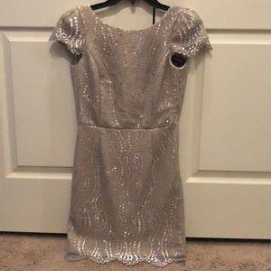Lace Cap Sleeve Mini Dress